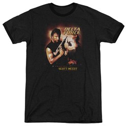 Delta Force - Mens Delta Force 2 Poster Ringer T-Shirt