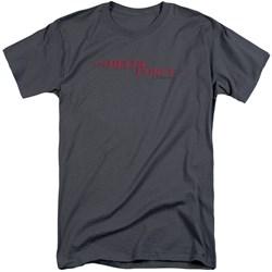Delta Force - Mens Distressed Logo Tall T-Shirt