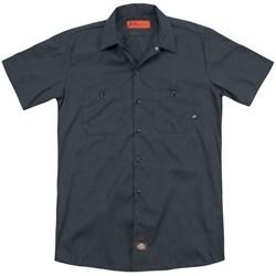 Delta Force - Mens Distressed Logo (Back Print) Work Shirt