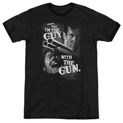 Army Of Darkness - Mens Guy With The Gun Ringer T-Shirt