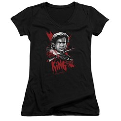 Army Of Darkness - Juniors Hail To The King V-Neck T-Shirt