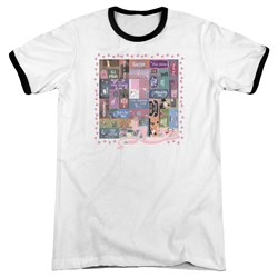 Pink Panther - Mens Vintage Titles Ringer T-Shirt