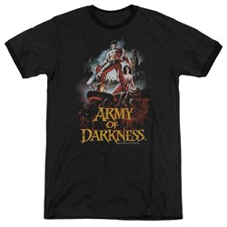 Army Of Darkness - Mens Bloody Poster Ringer T-Shirt