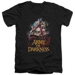Army Of Darkness - Mens Bloody Poster V-Neck T-Shirt