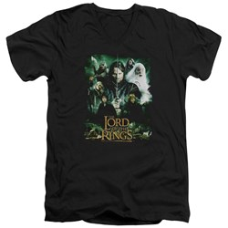 Lord Of The Rings - Mens Hero Group V-Neck T-Shirt