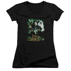 Lord Of The Rings - Juniors Hero Group V-Neck T-Shirt