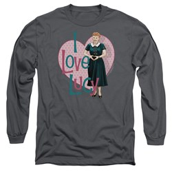 I Love Lucy - Mens Heart You Long Sleeve T-Shirt