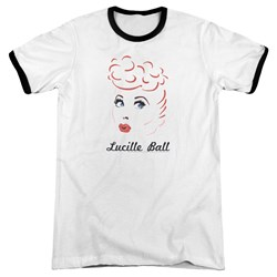 Lucille Ball - Mens Drawing Ringer T-Shirt