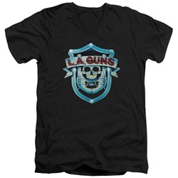 La Guns - Mens La Guns Shield V-Neck T-Shirt