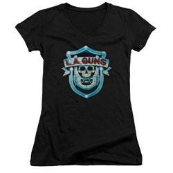 La Guns - Juniors La Guns Shield V-Neck T-Shirt