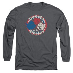 Beetle Bailey - Mens Red White And Bailey Long Sleeve T-Shirt