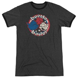 Beetle Bailey - Mens Red White And Bailey Ringer T-Shirt