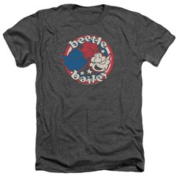 Beetle Bailey - Mens Red White And Bailey Heather T-Shirt