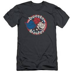 Beetle Bailey - Mens Red White And Bailey Slim Fit T-Shirt