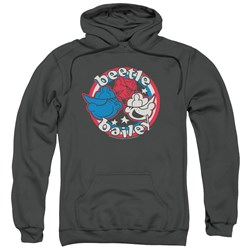 Beetle Bailey - Mens Red White And Bailey Pullover Hoodie