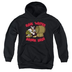 Hagar The Horrible - Youth Save Water Drink Beer Pullover Hoodie