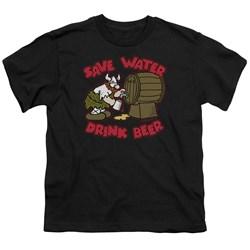 Hagar The Horrible - Big Boys Save Water Drink Beer T-Shirt