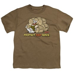 Hagar The Horrible - Big Boys Protect & Serve T-Shirt
