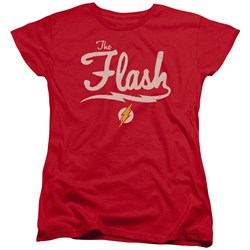 Justice League - Womens Old School Flash T-Shirt