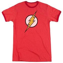 Justice League - Mens Flash Logo Ringer T-Shirt
