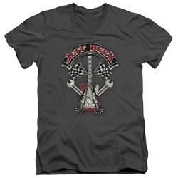 Jeff Beck - Mens Beckabilly Guitar V-Neck T-Shirt