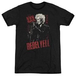 Billy Idol - Mens Brick Wall Ringer T-Shirt