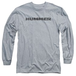 Hummer - Mens Distressed Hummer Logo Long Sleeve T-Shirt
