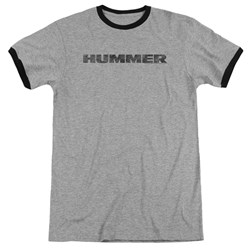 Hummer - Mens Distressed Hummer Logo Ringer T-Shirt