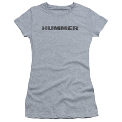 Hummer - Juniors Distressed Hummer Logo T-Shirt