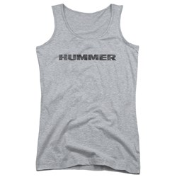Hummer - Juniors Distressed Hummer Logo Tank Top