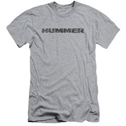 Hummer - Mens Distressed Hummer Logo Premium Slim Fit T-Shirt