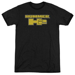 Hummer - Mens H2 Block Logo Ringer T-Shirt