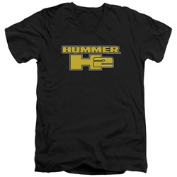 Hummer - Mens H2 Block Logo V-Neck T-Shirt
