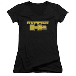Hummer - Juniors H2 Block Logo V-Neck T-Shirt