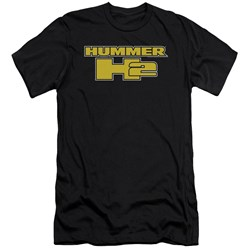 Hummer - Mens H2 Block Logo Premium Slim Fit T-Shirt