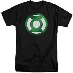 Green Lantern - Mens Green Chrome Logo Tall T-Shirt