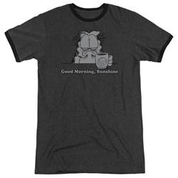 Garfield - Mens Good Morning Sunshine Ringer T-Shirt