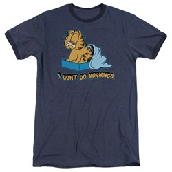 Garfield - Mens I Don'T Do Mornings Ringer T-Shirt