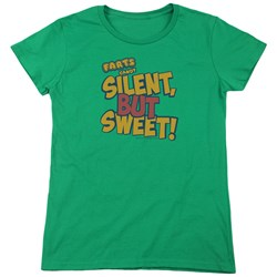 Farts Candy - Womens Silent But Sweet T-Shirt