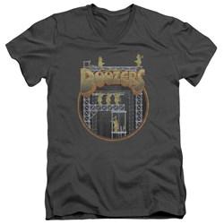 Fraggle Rock - Mens Doozers Construction V-Neck T-Shirt
