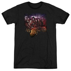 Farscape - Mens Graphic Collage Ringer T-Shirt