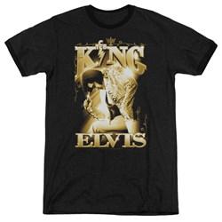 Elvis - Mens The King Ringer T-Shirt