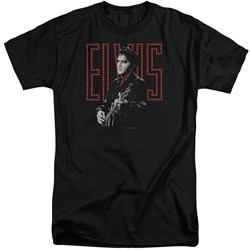 Elvis - Mens Red Guitarman Tall T-Shirt