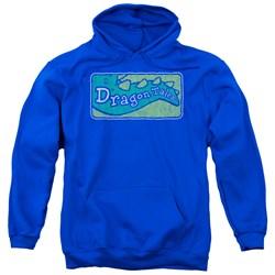 Dragon Tales - Mens Logo Distressed Pullover Hoodie