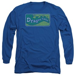 Dragon Tales - Mens Logo Distressed Long Sleeve T-Shirt