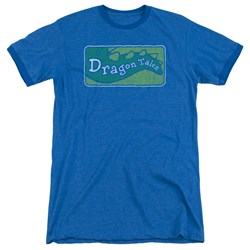 Dragon Tales - Mens Logo Distressed Ringer T-Shirt