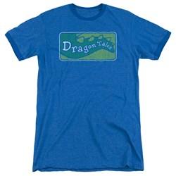 Dragon Tales - Mens Logo Distressed Ringer T-Shirt