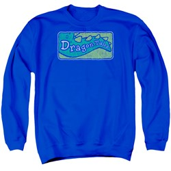 Dragon Tales - Mens Logo Distressed Sweater