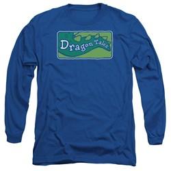 Dragon Tales - Mens Logo Clean Long Sleeve T-Shirt