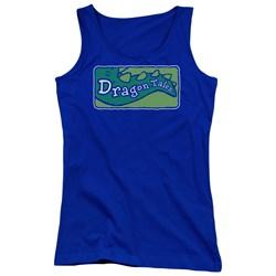 Dragon Tales - Juniors Logo Clean Tank Top